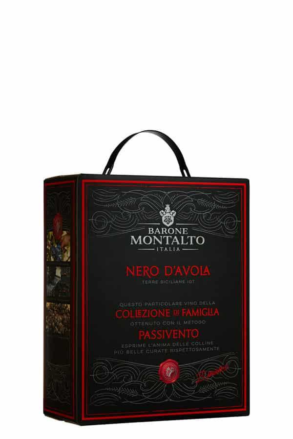 Barone MontaltoNero d'Avola Passivento i en 3000 Box Rött vin från Sicilien Italien